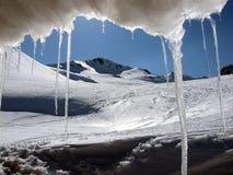 Montagna con ghiaccio immagine stock libera da diritti