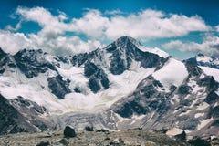 Montagna con ghiaccio Fotografia Stock