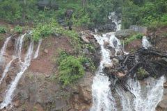 Montagna con le cascate - India Fotografia Stock