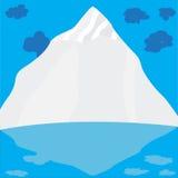 Montagna con le nubi illustrazione di stock