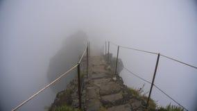 Montagna con nebbia Immagine Stock