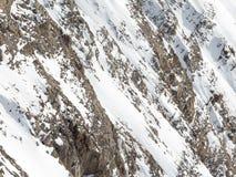 Montagna con neve bianca Immagine Stock Libera da Diritti