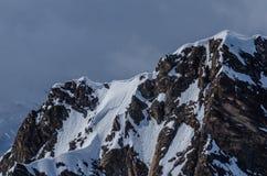 montagna con neve di estate Fotografia Stock Libera da Diritti