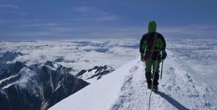 montagna del blanc del mont - parte superiore delle alpi Fotografia Stock