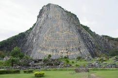 Montagna del Buddha dorato a Pattaya Per il tailandese questa è a Immagine Stock Libera da Diritti