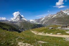Montagna del Cervino in Svizzera immagine stock libera da diritti
