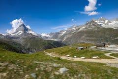 Montagna del Cervino in Svizzera fotografia stock libera da diritti