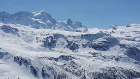 Montagna del Cervino in svizzero Fotografia Stock Libera da Diritti