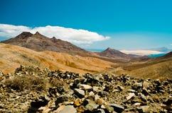 Montagna del deserto, Fuerteventura, Fotografia Stock