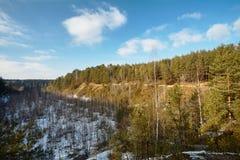 Montagna del gesso a Grodno Bielorussia Fotografie Stock