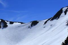 Montagna del Giappone con la neve di inverno Fotografia Stock
