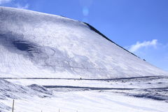 Montagna del Giappone con la neve di inverno Fotografie Stock Libere da Diritti