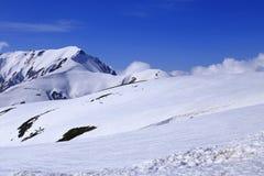 Montagna del Giappone con la neve di inverno Fotografia Stock Libera da Diritti