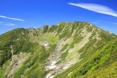 Montagna del giapponese di estate Fotografie Stock Libere da Diritti
