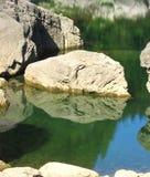 montagna del lago Fotografie Stock