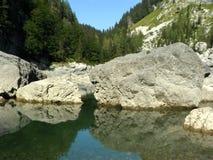 montagna del lago Immagine Stock