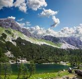 montagna del lago Fotografia Stock