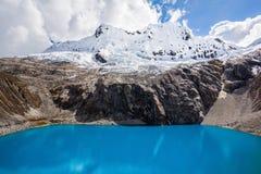 Montagna del lago Laguna 69 e di Chakrarahu Immagine Stock Libera da Diritti