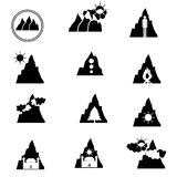 Montagna del logos Fotografia Stock