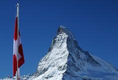Montagna del Matterhorn fotografia stock