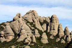 Montagna del Montserrat immagine stock libera da diritti