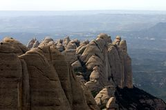 Montagna del Montserrat immagine stock