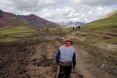 Montagna del Perù Immagini Stock