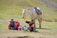 Montagna del Perù Fotografia Stock Libera da Diritti