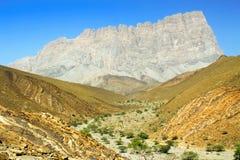 Montagna del pettine nell'Oman Immagini Stock Libere da Diritti
