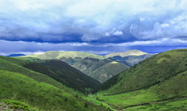 Montagna del plateau Fotografia Stock Libera da Diritti