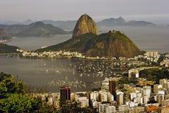 montagna del sugarloaf in Rio de Janeiro Fotografia Stock