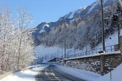 Montagna dell'Austria di inverno Immagine Stock