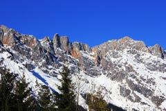 Montagna dell'Austria di inverno nelle alpi Immagini Stock