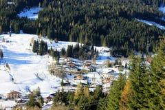 Montagna dell'Austria di inverno nelle alpi Immagini Stock Libere da Diritti