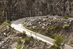 Montagna della caverna del marmo di Carrara Fotografie Stock Libere da Diritti