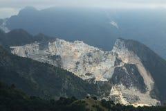 Montagna della caverna del marmo di Carrara in Toscana Fotografia Stock Libera da Diritti