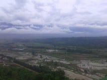 Montagna della collina di agricoltura dell'India del Nagaland della nuvola del cielo Immagini Stock