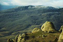 Montagna della Crimea Fotografia Stock