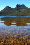 Montagna della culla e lago dove Immagine Stock Libera da Diritti