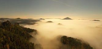 Montagna della Della Boemia-Sassonia Svizzera Immagini Stock Libere da Diritti