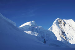 Montagna della neve Fotografia Stock Libera da Diritti
