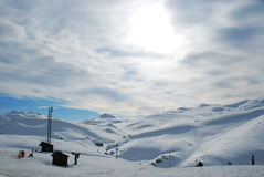 Montagna della neve Immagine Stock Libera da Diritti
