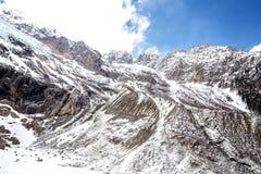 Montagna della neve Fotografie Stock