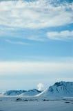 Montagna della neve, cielo blu, Islanda del nord Fotografia Stock Libera da Diritti