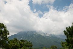 Montagna della neve del drago della giada Fotografia Stock