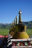 Montagna della neve & della pagoda Fotografie Stock