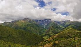 Montagna della neve di Bai Mang Fotografie Stock