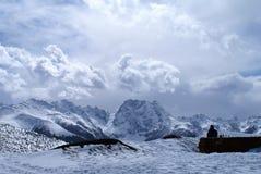 Montagna della neve di Baima Fotografie Stock Libere da Diritti