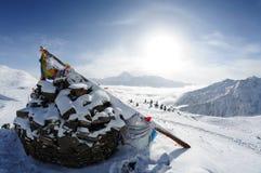Montagna della neve di Gongga Fotografia Stock Libera da Diritti