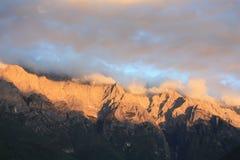 Montagna della neve di Haba Immagini Stock